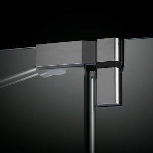 Mit den neuen, patentierten Türbeschlägen für FENIX müsst ihr euch erst ganz zum Schluss entscheiden, in welche Richtung die Tür eurer neuen Dusche aufgehen soll. Toll, oder?
