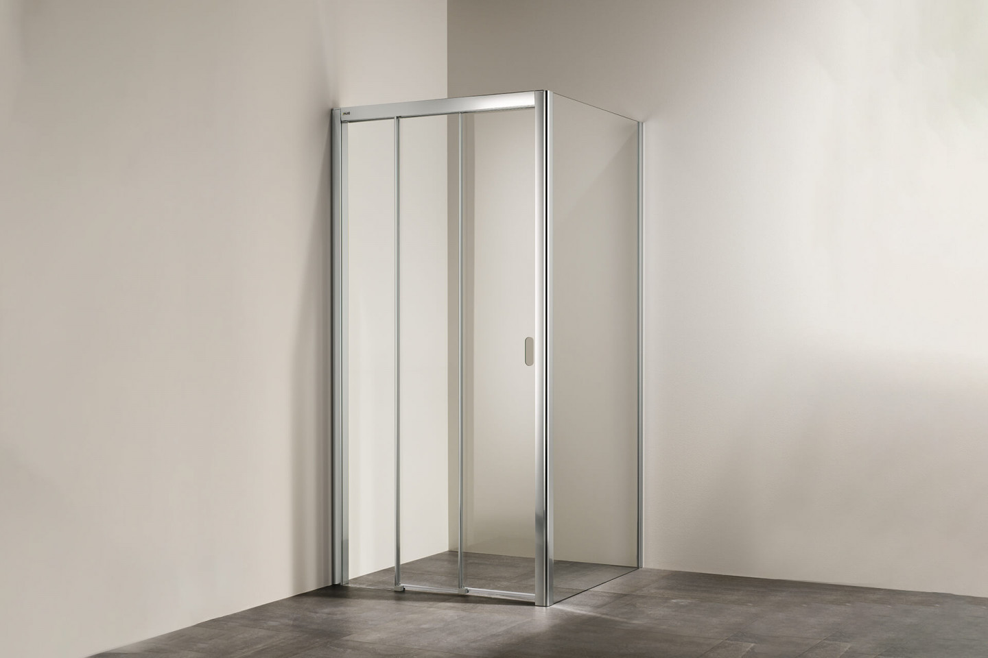 Piana X-Free 3-part folding door with side panel
